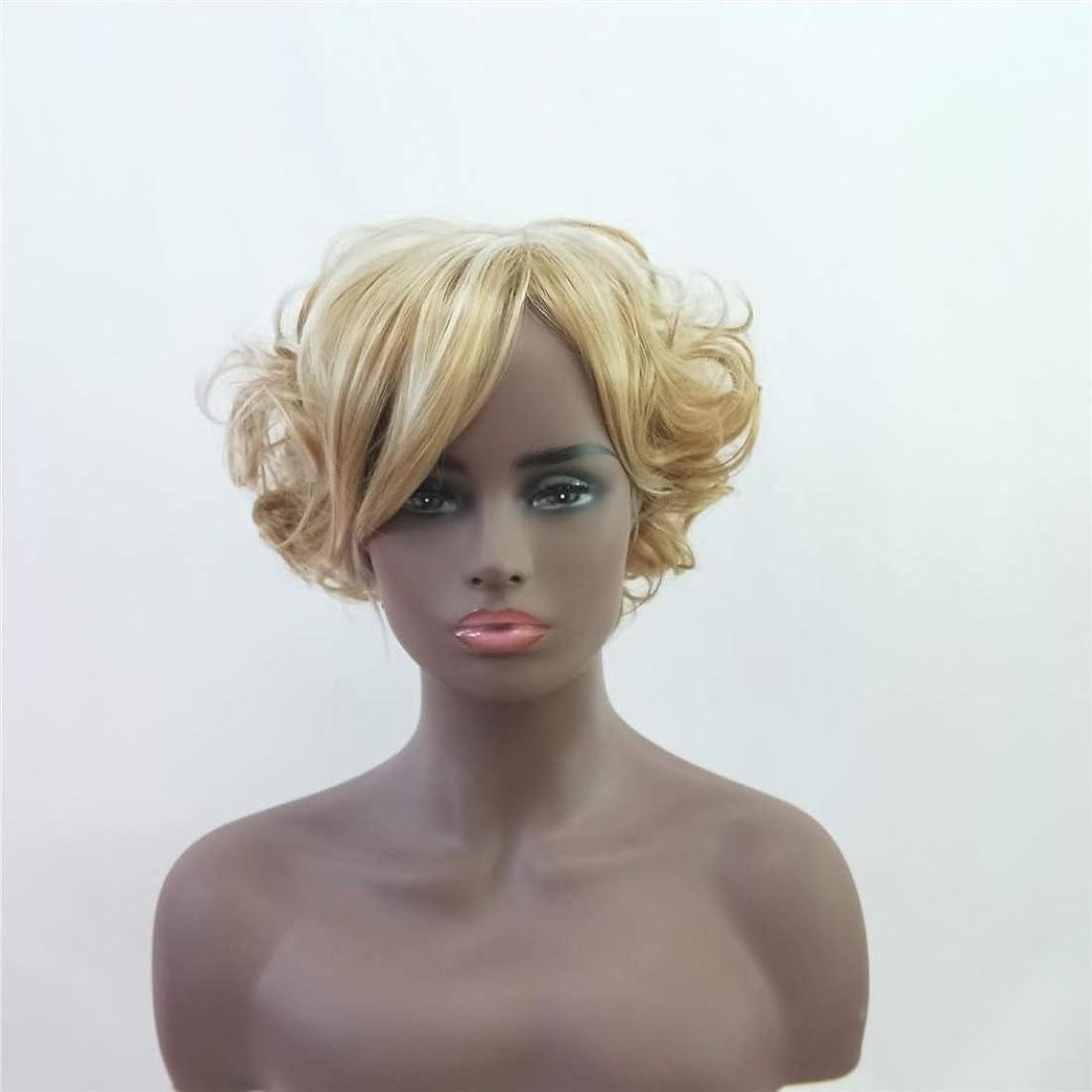 悪性戦略排気Koloeplf 女性のための短い巻き毛のかつらかつら前髪付きかつら人工毛髪かつら自然なかつら