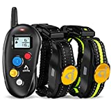PATPET Dog Training Collar - 2 Receiver Rechargeable IPX7 Waterproof Shock Collar with Remote - 3...