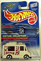 Hot Wheels #2000-144 White ICE Cream Truck Virtual Collection Collectible Collector Car Mattel 1:64 Scale
