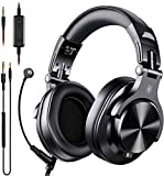OneOdio Wired Over-Ear Gaming Kopfhörer mit Mikrofon Gaming Headset, kabelgebundene DJ Kopfhörer mit Share Port Studio Kopfhörer für Monitoring, Adapter-frei mit 6,3mm & 3,5mm Buchse