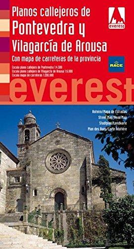 Planos callejeros de Pontevedra y Vilagarcía de Arousa: Con mapa de carreteras de la provincia (Planos callejeros / serie roja)