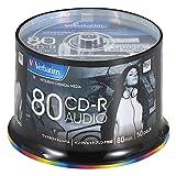バーベイタムジャパン(Verbatim Japan) 音楽用 CD-R 80分 50枚 ホワイトプリンタブル 48倍速 MUR80FP50SV2