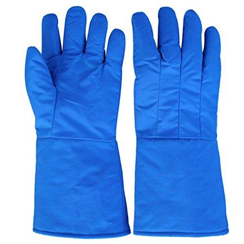 JJH&& Niedrige Temperatur-beständige Handschuhe, Anti-Liquid Stickstofffrostschutzhandschuhe Experimentieren LNG Kühllager-Trockeneis-warme Handschuhe ### (Farbe : 60cm)