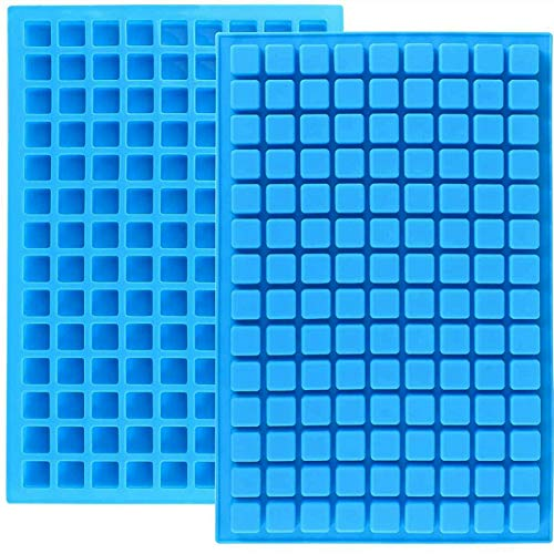 JOERSH 2-Pack Square Silicone Mold Gummy molds Candy molds Silicone for Caramels Chocolate Ice Cube Jelly Truffles Pralines Ganache 126 Cavity