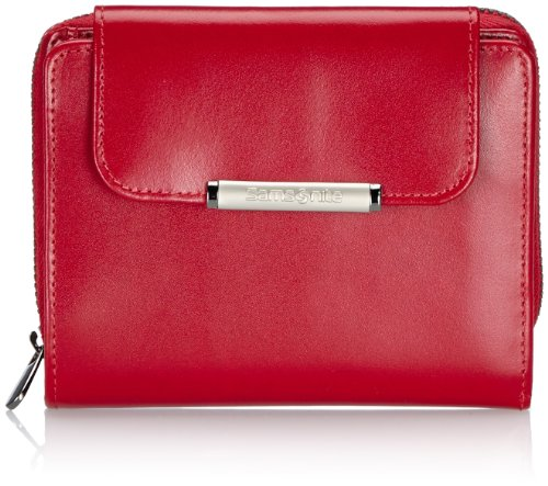 Samsonite Lady Chic SLG L. WAL. M 8cc+Zip Ext - Tarjetero Unisex Rojo Pompeian Red
