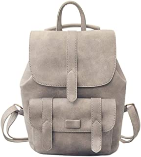 XHHWZB Backpack - College Wind Student Bag PU Material