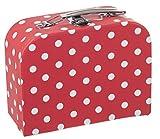 Bieco Kinderkoffer mit Punkten in Rot | Gefüllt mit Kleinen Überraschungen | Spielzeugkoffer aus...