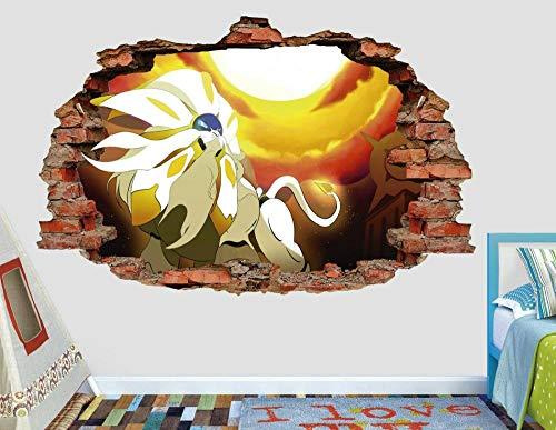 Pegatinas de pared Elf can dream power fire calcomanía de pared niños smashed 3d art calcomanía decoración vinilo