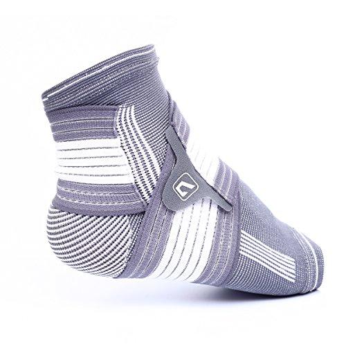 Tobillera Live Up SPORTS de compresión y soporte con envolturas elásticas integradas para correr, jugar baloncesto, caminar, trotar y uso diario, LS5674