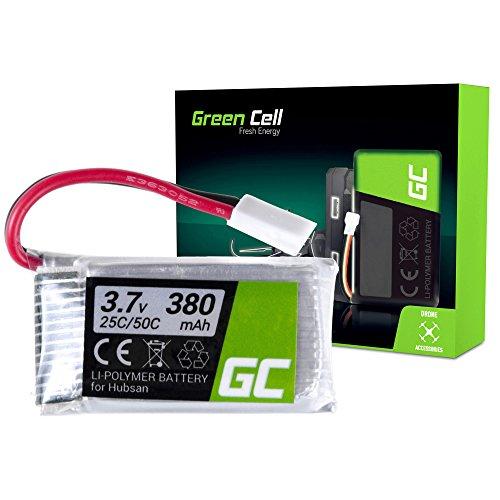 Green Cell® Batteria per Drone Quadrocopter Syma X5SC-1 (Li-Polymer, 380 mAh, 3.7V, JST-xh Connettore)