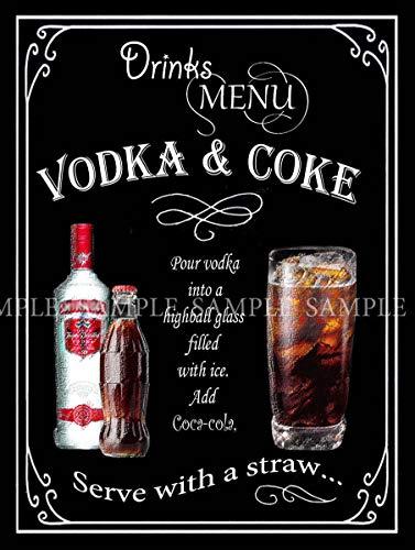 Sp567encer Wodka Cola Retro Vintage Style Ideaal voor PubBistoHome BarHome DecorMetal tekens