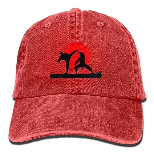 AOHOT Herren Damen Baseball Caps,Hüte, Mützen, Classic Baseball Cap, Karate Japan Denim Hat Adjustable Mens Cute Baseball Cap