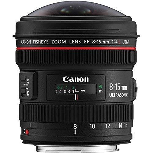 Canon Obiettivo Grandangolare con Zoom, EF 8-15 mm f/4L Fisheye USM, Nero