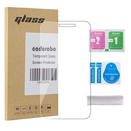 Cadorabo Panzer Folie kompatibel mit Alcatel PIXI 3 (4 Zoll) - Schutzfolie in KRISTALL KLAR - Gehärtetes (Tempered) Bildschirm-Schutzglas in 9H Festigkeit mit 3D Touch Kompatibilität