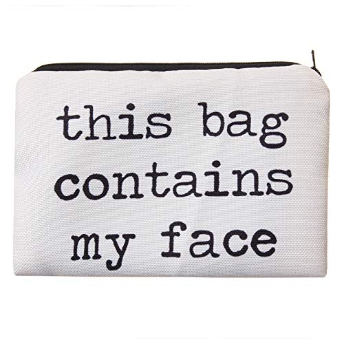 PariDeLuxe - Kulturtasche, Kulturbeutel, Kosmetiktasche, Schminkbeutel, Make-up Bag - Weiss - This Bag.