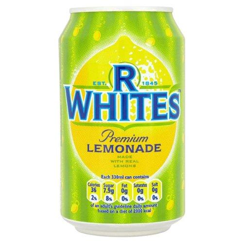 R Whites Premium Lemonade 330ml (Pack of 24 x 330ml)