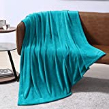 EXQ Home Fleece Blanket Teal Throw Blanket for Couch or Bed - Microfiber Fuzzy Flannel Blanket for Adults or Kids