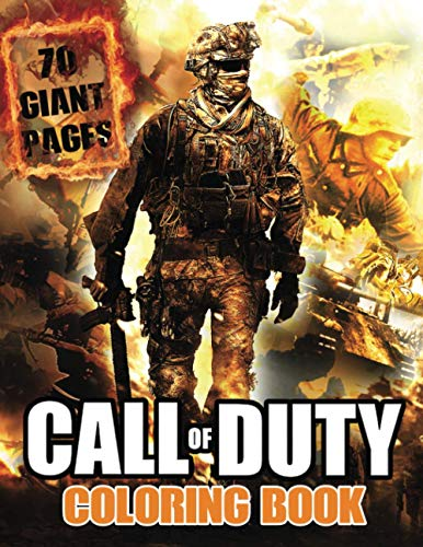 Call of Duty Coloring Book: Great Coloring Book for Kids and Fans – 70 GIANT Pages to Coloring - 35 High Quality Images