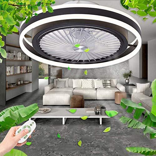 LED Fan Deckenleuchte Deckenventilator Mit Beleuchtung Dimmbar Mit Fernbedienung Licht Moderne Leise Deckenlampe Wohnzimmer Schlafzimmer Kinderzimmer Esszimmer Timing Ventilator Deckenlampe,Schwarz