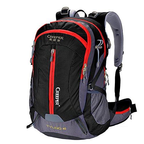 éclairage d'alpinisme/Sac extérieur étanche Sac à Dos/Sac à Dos randonnée/Camping Package-Black 40L