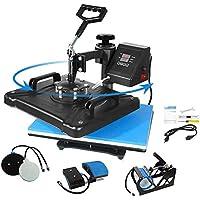Aonesy Pro 5-in-1 Combo Heat Press Machine for T-Shirt Hat Cap Mug Plate