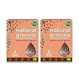 Granola BIO Natural Athlete, Frutos Secos y Semillas, Sin Azúcar Refinado, Sin Gluten, Sin Cereales, Vegana, Cacao, Coco y Quinoa -Pack 2x325