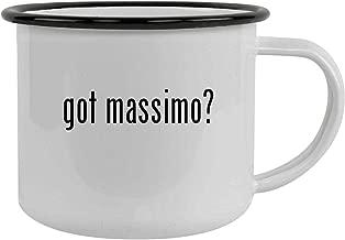 got massimo? - 12oz Stainless Steel Camping Mug, Black