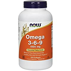 NOW's Omega 3-6-9 blend of five nutritional oils -- Flax Seed, Evening Primrose, Canola, Black Currant, and Pumpkin Seed Oils -- have essential fatty acids for healthy-looking skin and immune support.* Each serving may have the following naturally oc...