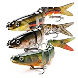 BLure Fishing Lure – Striped Bass Lures – Swimming Multi-Jointed Lure - Bass Fishing Equipment...