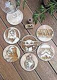 Set of 6 Star Wars Wood Coasters - Baby Yoda,...