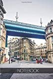 Notebook - Travel Journal - 110 pages: Newcastle-upon-Tyne, England - Tyne bridge Quayside