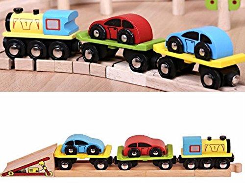 B-Creative Train de Transport de Voiture pour Chemin de Fer en Bois ~ BJT199 Bigjig (Brio Thomas)