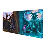 Totem World Trading Card Games Playmat - Compatible with Magic The Gathering MTG Pokemon Cards - TCG Card Game Table Mat - Durable Thick Cloth Fabric Top with Rubber Bottom