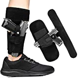Gexgune Ankle Holster for Concealed Carry with Magazine Pouch Gun Holster for Glock 19, 43, 17, 26, 23, 42, 27, S&W Bodyguard 380 Ruger LCP, LC9, M&P, or Similar Guns, Pistol Gun Holster for Women Men