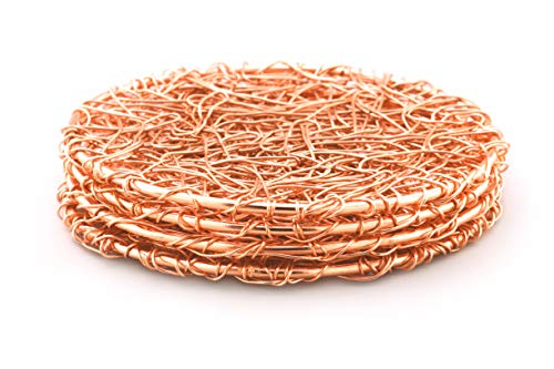 Wire Copper Coasters - Set of 4 by Alchemade
