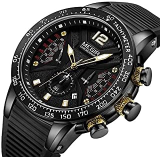 Megir Casual Watch For Men Analog Silicone - MN2106G-BK-1N3