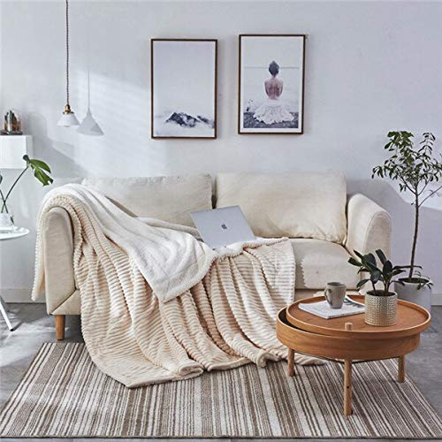 RONGXIE Nieuwe winterdeken, dubbellaags, dik, kasjmier, super zacht, warm wollen deken, flanel fleece op slaapbank, rode deken, home camping beddengoed 200x230cm Style2