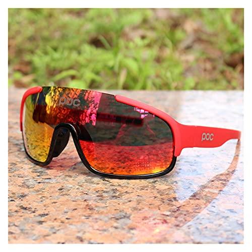 YINHAO Crave POC do polarizado Airsoftsports Blade Ciclismo Gafas de Sol Hombres Sport Road Mountain Bike Glasses Hombres Mujeres Eyewear (Color : 4)