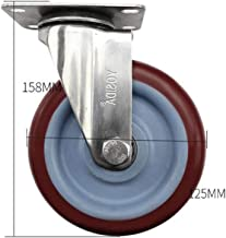 WSWJ Stainless Steel Caster Wheel Silent Castors Aabrasionproof (Color : B-Universal wheel)