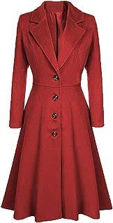 Ez-sofei Women's Vintage Long Sleeve Lapel Trench Coat Dress