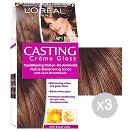 Set 3 CASTING Gloss 600 Dark Crème Blonde. Cheveux Et Couleur Plain