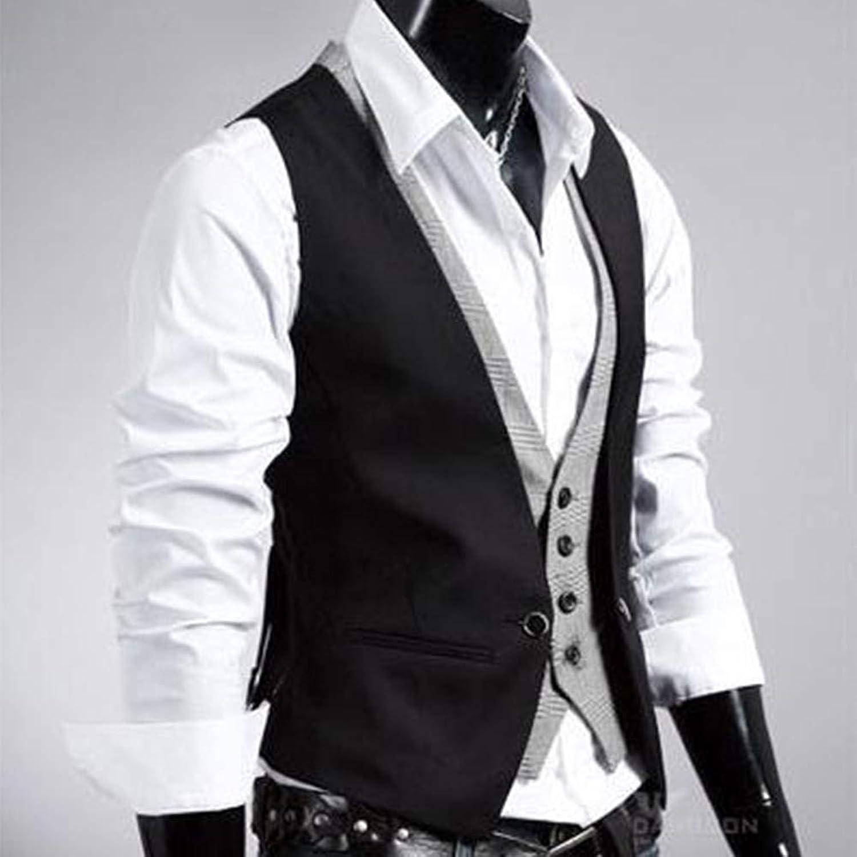 ココアファッションメンズトップカジュアルジャケットスリムフィットスキニージャージーコートブラックXL-ブラックXL