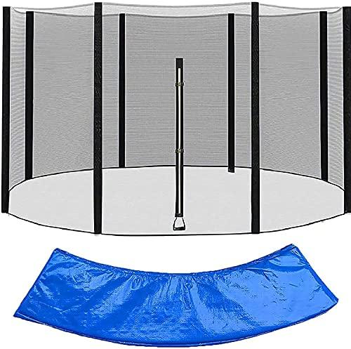 WXking Reemplazo de las redes de seguridad de trampolín 12ft, cubierta de la cubierta de trampolín cubierta protectora lateral de trampolín 12 pies, al aire libre impermeable Trampolines Redondo Pad P