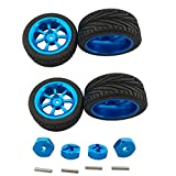 sea jump Accessories for Wltoys A959 A969 A949 A979 K929 Metal Car Upgrade Parts WLTOYS Alloy Wheels + 12mm Metal hex Wheel Adapter