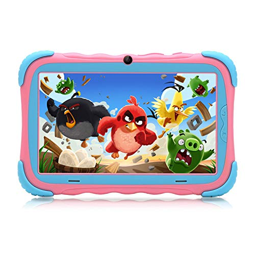 "ZONKO Kids Tablet,7"" HD Display with Kid-Proof Case(Pink)"