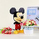 BAIDEFENG Mini Block, Mickey Mouse Diamond Blocks, Micro Modelo 3D Classic Cartoon Stitch Mini Building Bricks Figuras para Juguetes De Ladrillos