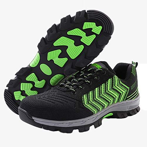 shoes Vier-Jahreszeiten-Arbeitsschuhe für Männer und Frauen, Anti-Piercing Breathable Sicherheitsschuhe rutschfeste verschleißfeste Sicherheitsstiefel, Geeignet für Outdoor-Training/Klettern