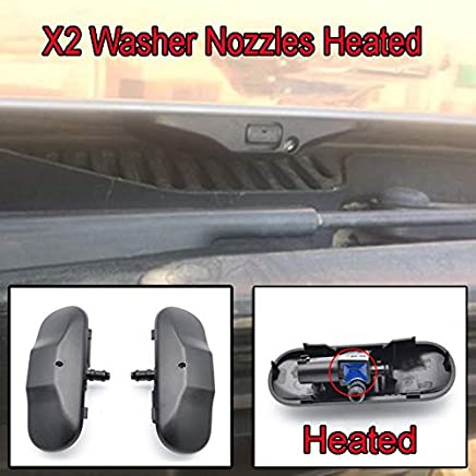 Par de boquillas para limpiaparabrisas delantero, calentadas, para Tiguan Amarok Scirocco Passat B6 EOS