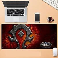 World of Warcraft特大ゲーム用キーボードマウスパッド ノンスリップ防水ジェルリストマット(World of Warcraft)-900X400X3MM-D_800*300*3MM