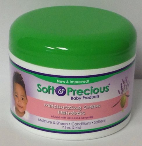 Soft & Precious Baby Products Moisturizing Cream Hairdress Infused with Olive Oil & Lavender 7.5oz
